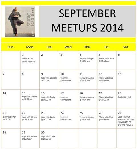 september meet-ups